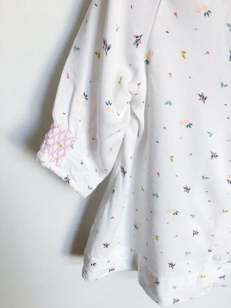 Vertbaudet Tops + Bodysuits 1m / Gently Used Re-Cycle White Flower Print Blouse