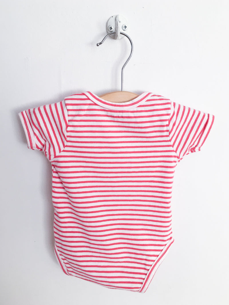 Vertbaudet Tops + Bodysuits 3m / Gently Used Re-Cycle Red and White Milk Bodysuit