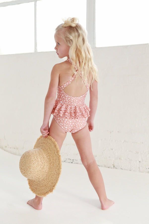 We Roam Swimwear 2y One Piece - Bedrock / Nude