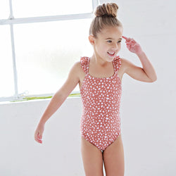 We Roam Swimwear 2y One Piece - Bedrock / Nutmeg