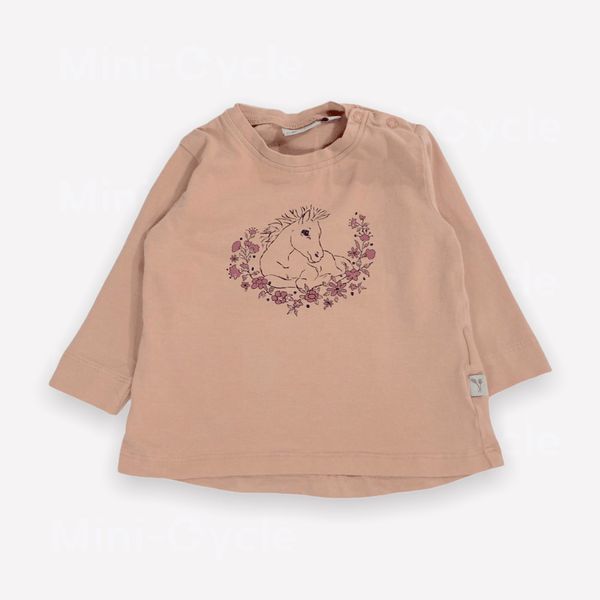 Wheat Long-Sleeve Tee 6m / Like New Re-Cycle Graphic Pink Long-Sleeve Tee