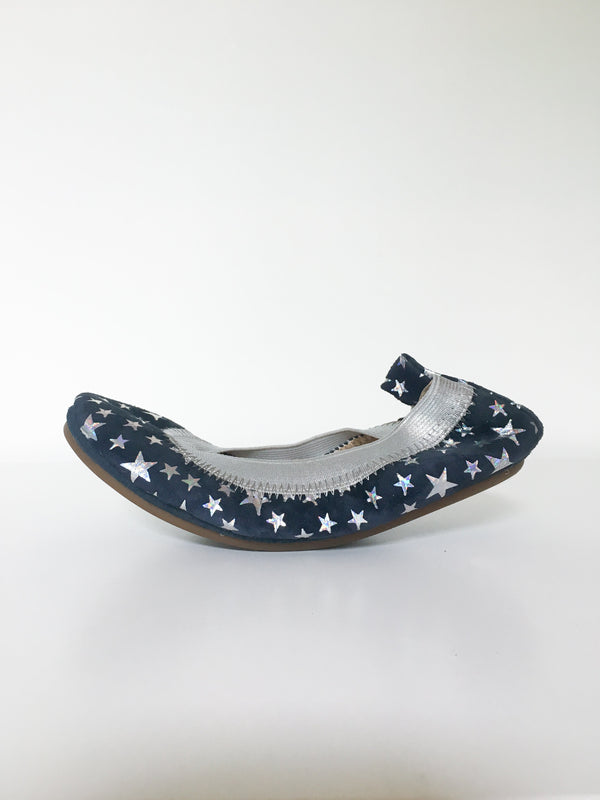 Yosi Samra Shoes 5y / Like New in Pouch Re-Cycle Ballet Flats with Stars