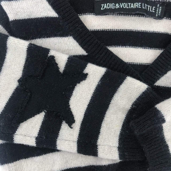 Zadig & voltaire little Cardigan 6m / Like New Re-Cycle Striped Beige Wool Cardigan