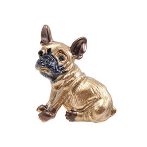 Vintage Gold French Bulldog Brooch Pin