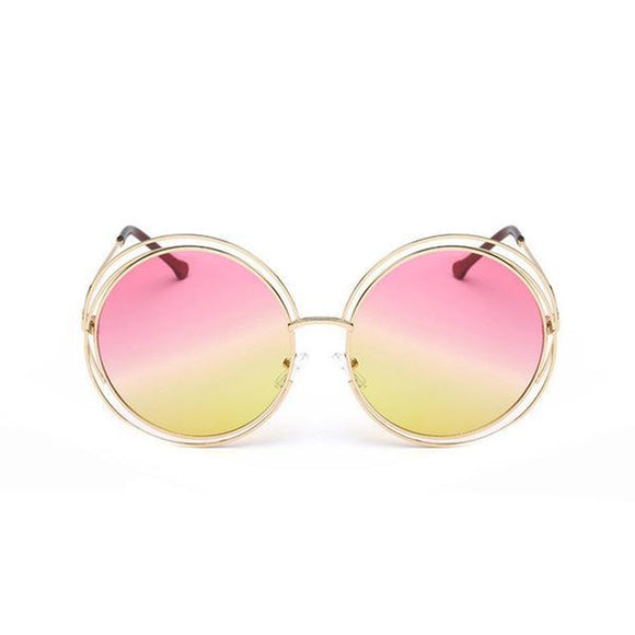 Ladies Over-sized Circle Sunglasses
