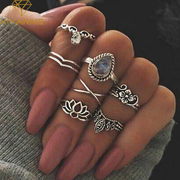 Ladies knuckle Ring Set
