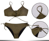 Army Green 2 piece Strappy Bikini