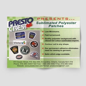 Sublimated Patches_Presto Crest