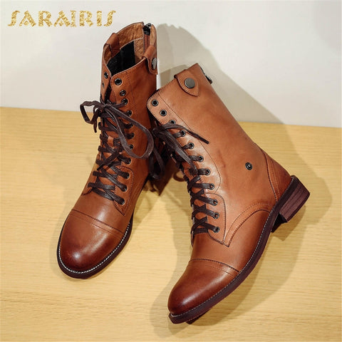 SARAIRIS Sheepskin Leather Boots