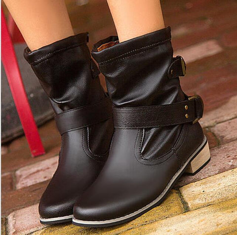 Buckle Strap Ankle Booties