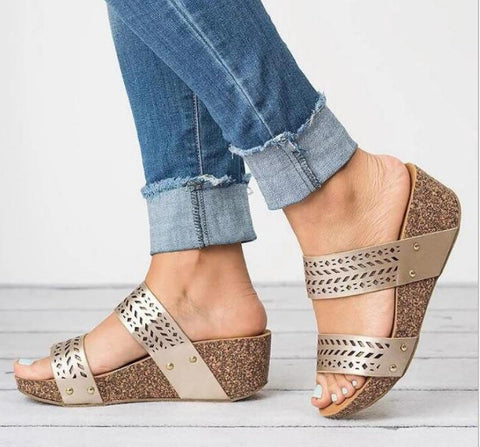 womens wedge sandals sapato F180681