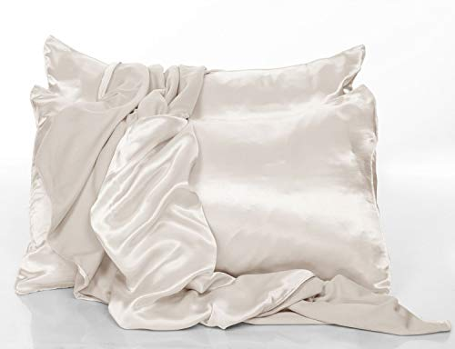 PJ Harlow Eggnog Satin Standard Pillowcases - Set of 2