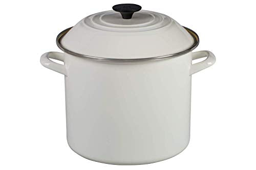 Le Creuset Stockpot, 10-Quart, White