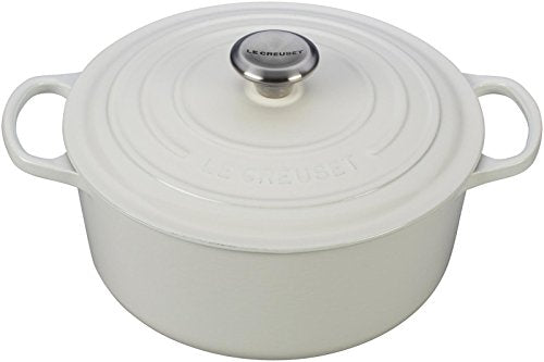 Le Creuset Enameled Cast-Iron Round French (Dutch) Oven, 5-1/2-Quart, White