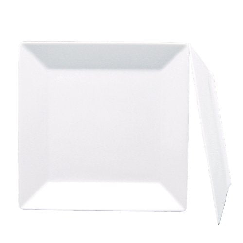 Fortessa Fortaluxe SuperWhite Vitrified China Dinnerware, 10-3/4-Inch Square, Set of 6