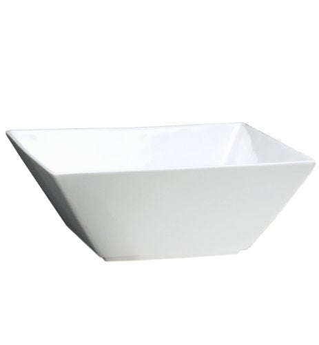 "Fortessa Fortaluxe SuperWhite 5.75"" Deep Square Bowls, Set of 6"
