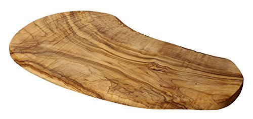 "Naturally Med Olive Wood Cutting/Cheese Board, Large, 18"" L"