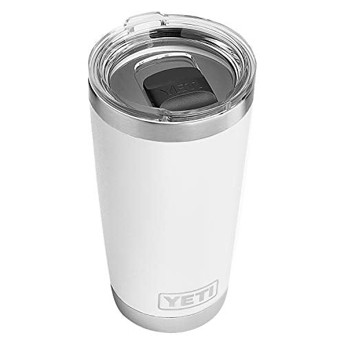 YETI Rambler 20 oz Tumbler, Vacuum Insulated with MagSlider Lid, White