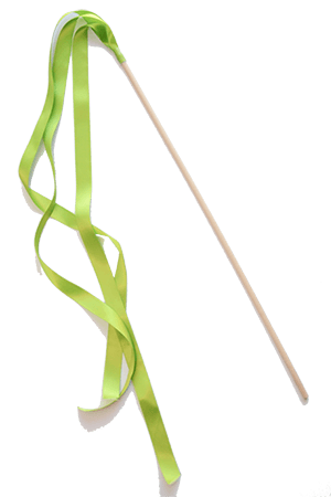 Ribbon Wands - Apple Green