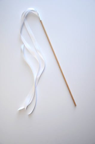 Ribbon Wands -White