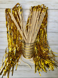 Gold Tinsel Wands