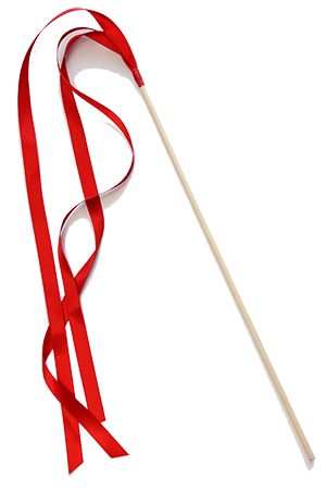 Ribbon Wands - Red