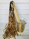 Champagne Tinsel Wands