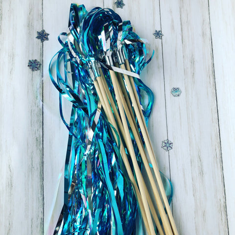 Snow Princess Tinsel Wands- pack of 12