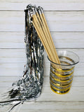 Silver Tinsel Wands