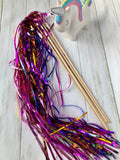 Unicorn Tinsel Wands- pack of 12
