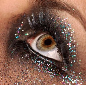 Cosmetic Glitter used around the Eye