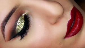 Create these stunning 'Arabian nights' eyes using Shimmering Sand