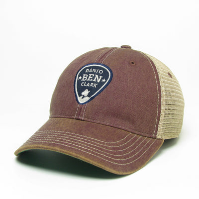 Banjo Ben Trucker Hat- Dark Burgundy