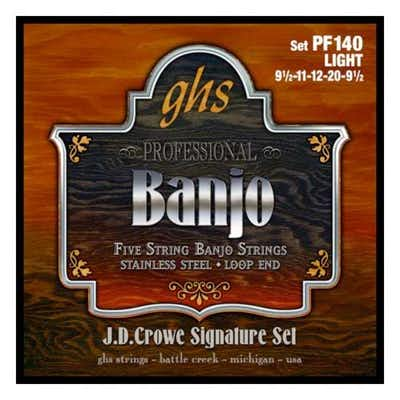 GHS PF140 JD Crowe Signature Studio Light Stainless 5-String Banjo Strings