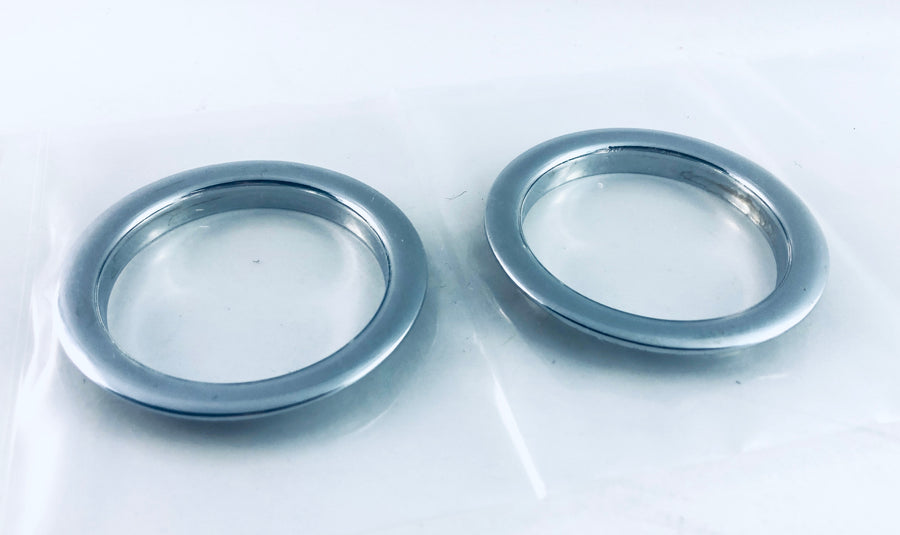 Beard Screenless Sound Ring - Chrome (Set of 2)