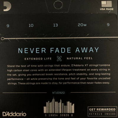 D'Addario XT Nickel Light 09-20 Banjo Strings