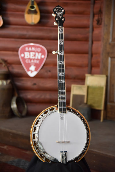 Deering Tony Trischka Model Silver Clipper 5-String Resonator Banjo With Case
