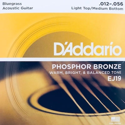 D'Addario EJ19 Bluegrass Med-Light Phosphor Bronze Acoustic Guitar Strings
