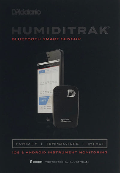 D'Addario Humiditrak Bluetooth Humidity, Temperature, and Impact Sensor