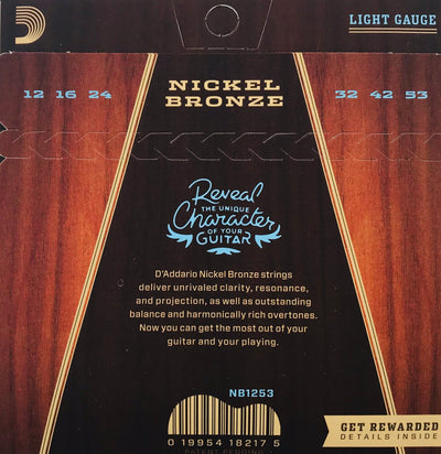 D'Addario Nickel Bronze Guitar Strings