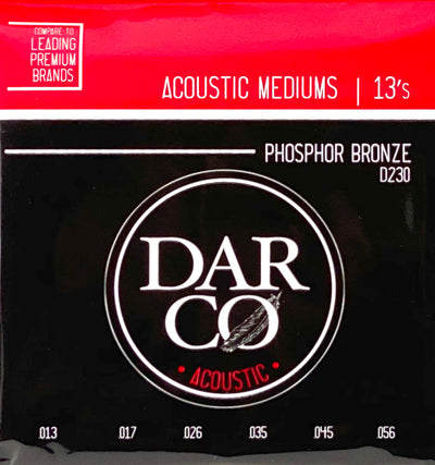 Darco D230 Acoustic Guitar Strings - Phosphor Bronze Medium Gauge