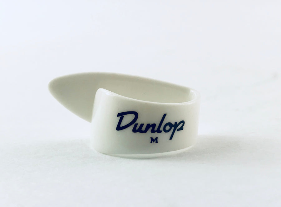 Dunlop White Thumb Pick- Available in Small, Medium, Large, and Extra Large