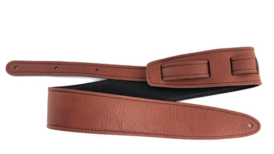 El Dorado Durango Suave Leather Guitar Strap (Cognac/Chocolate)