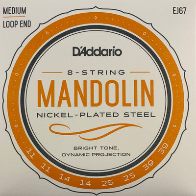 D'Addario EJ67 Nickel Plated Mandolin Strings