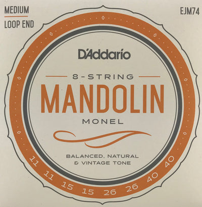D'Addario EJM74 Nickel Monel Medium Mandolin Strings