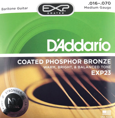 D'Addario EXP23 Phosphor Bronze Baritone Guitar Strings
