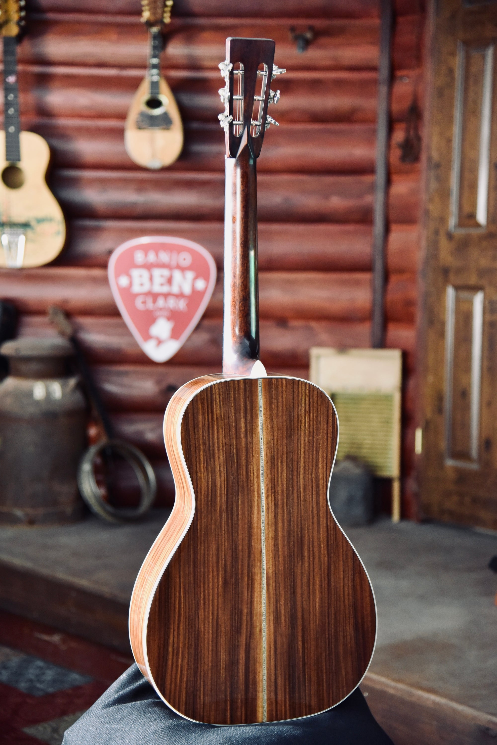 eastman e20p parlor sized adirondack rosewood acoustic guitar with cas banjo ben clark. Black Bedroom Furniture Sets. Home Design Ideas