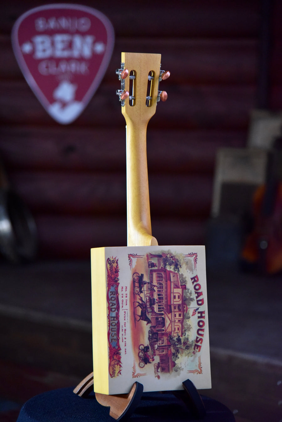 Eddy Finn Cigar Box Ukulele With Case