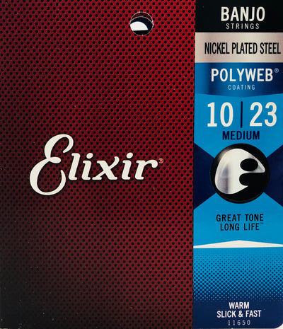 Elixir Nickel Plated Steel Polyweb Banjo Strings