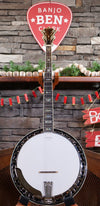 Stelling Staghorn Walnut 5-String Banjo with Case